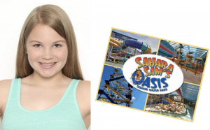 Hailey Richardson, Barbizon of Buffalo graduate, was featured in a Sahara Sam's Water Park Commercial