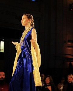 Hannah Grinnell, Barbizon of Southwest Missouri alum, walked the runway for designer Lauren Hansen during the Kansas City Fashion Week