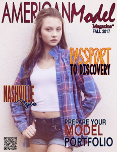 Isabelle Przybylski, Barbizon of Minneapolis alum, books the cover and a feature in American Model Magazine.