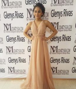 Ivory Sabine, Barbizon of Manhattan alum, modeled in New York Fashion Week for designer Glenys Rivas