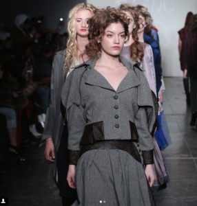 Jacqueline Frye, Barbizon Manhattan grad, walked in New York Fashion Week for designer Mouton Blac