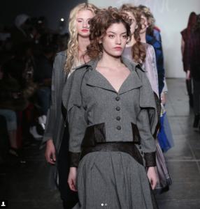 Jacqueline Frye, Barbizon Manhattan grad, walked in New York Fashion Week for designer Mouton Blac
