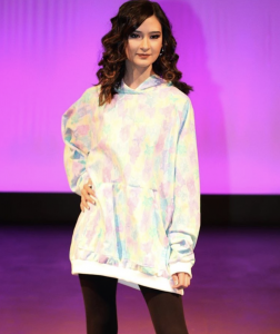 Jaiden Wong, Barbizon Southwest alum, walked in the New School of the Arts and Academics Fashion Show