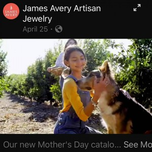 Jasselle Sanchez, Barbizon Socal graduate, booked a commercial and print campaign for James Avery Artisan Jewelry