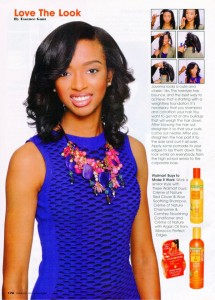 Javenia, Barbizon TV alum, modeled for Hype Hair