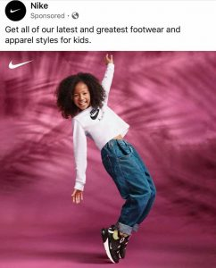 Jazlynne featured on Nike's instagram in an energetic pose