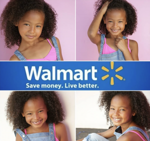 Jazlynne Williams, Barbizon Socal grad, booked two commercials, one for HPI and the other for Walmart