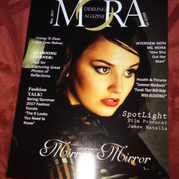 Jenna J, Barbizon Harrisburg alum, was featured in Mora Modeling Magazine's May 2017 The Reflections Issue