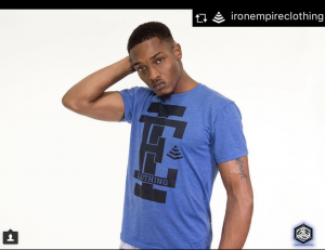 Jeremiah Bayeté, Barbizon Pittsburgh alum, modeled for Iron Empire Clothing