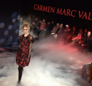 Julia Willetts, Barbizon alum, walked in New York Fashion Week for fashion designer Carmen Marc Valvo