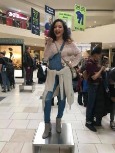 Katherine Alvarado, Sacha Knoll, Rivers Watts, and Brianna Otenberger, Barbizon Southwest graduates, worked as mannequin models for Macy's GALentines event1