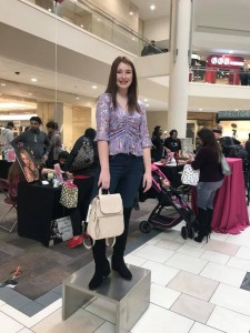 Katherine Alvarado, Sacha Knoll, Rivers Watts, and Brianna Otenberger, Barbizon Southwest graduates, worked as mannequin models for Macy's GALentines event2