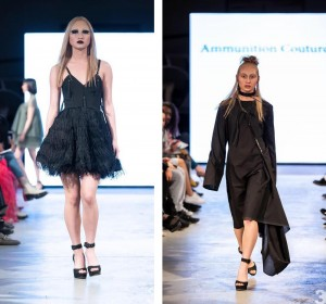 Kayla Harkema walked for Ammunition Couture and Tyne Hall at Denver Fashion Week