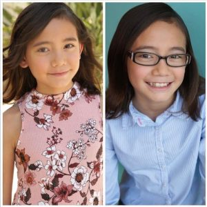 side by side headshots of Kayla one with and without her wearing glasses