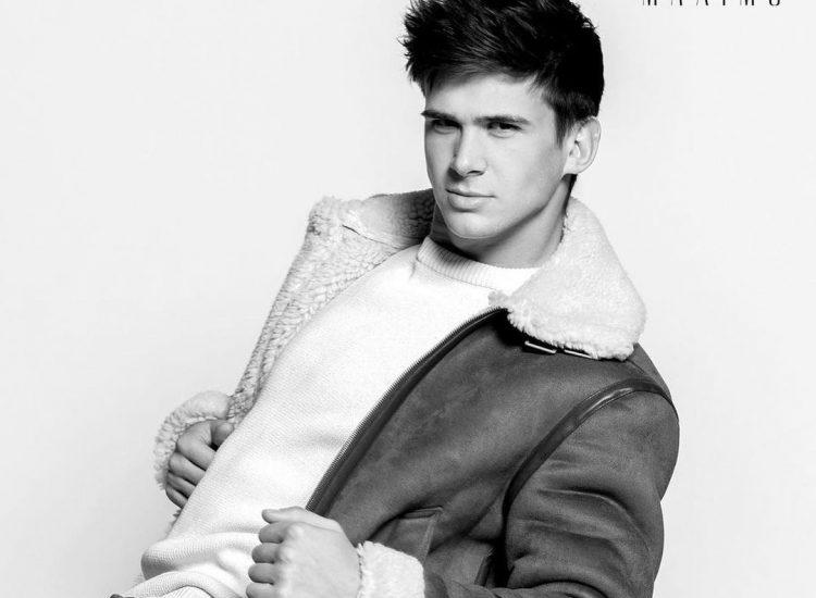 Kyle sinnot modeling for Maximo Magazine