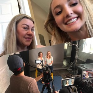 Kylee Schirmer, Barbizon Southwest graduate, and her mom were on set filming a national ad