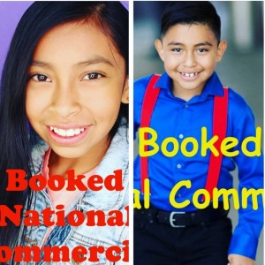Leslie and Mario Ramos, Barbzion Socal alumni, booked national commercials