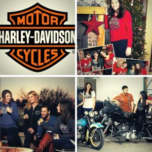 Lyric Strickland, Barbizon of Madison grad, shot a print campaign for Harley Davidson