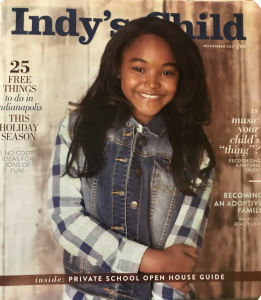 Mackenzie Adams, Barbizon of Indianapolis alum, booked an editorial on the cover of Indy's Child