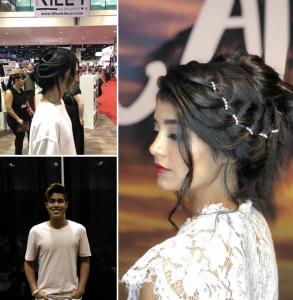 Madison Martin, Josh Rosenblatt and nine other Barbizon alumni booked the Premiere Orlando Hair Show For Alfaparf Milano, Penelope Jorge and Sexy Hair