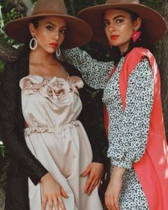 Maleah Marquez and Carolina Iglesias, Barbizon Southwest alumni, modeled for Rachel Marie Hurst
