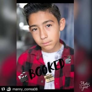 Manny Correa, Barbizon Socal graduate, booked a role on a feature film