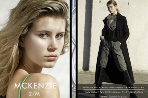 Headshot of McKenzie side by side of her modeling a riding outfit