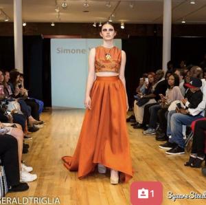Meg, Barbizon Red Bank model, walked in SOHO Fashion Week in New York