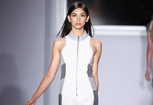 Melanie, Barbizon Manhattan alum, walked the runway in New York Fashion Week