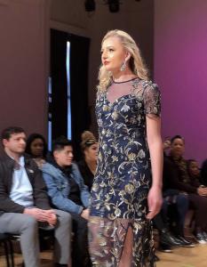Merrick Alexander, Barbizon of Omaha grad, walked the runway in New York Fashion Week for designer ASHLEYlauren