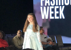 Mia, Barbizon Red Bank model, walked in LA Fashion Week