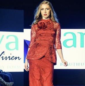 Model Gina walks in NYC Fashion Week - Barbizon