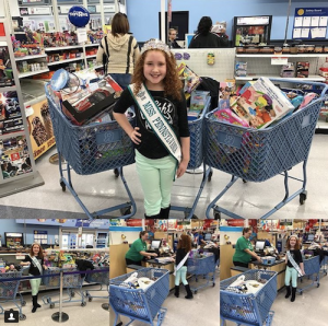 NAM Miss Pennsylvania Jr. Pre-Teen and Barbizon PA grad Brianna Moscarell ran a toy drive for Toys For Tots this holiday season