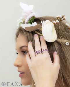 Natalie Simmons, Barbizon of Athens grad, modeled for Fana Jewelry