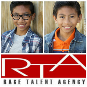 Nathan and Jeremiah Matulessya signed with Rage Models and Talent for commercials, TV and film