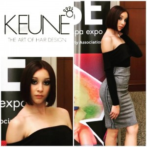 Nevaeh McKissic, Barbizon Socal student, booked the Isse Beauty and Hair Fashion Show for Keune hair designs