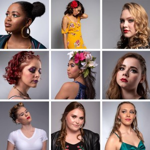 Nine Barbizon Southwest models were selected for the Avalon School of Cosmetology MAC Cosmetics photo shoot