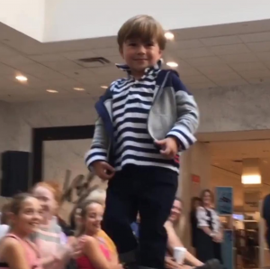 Oliver, Barbizon Red Bank kids model, walked in a Lord & Taylor fashion show
