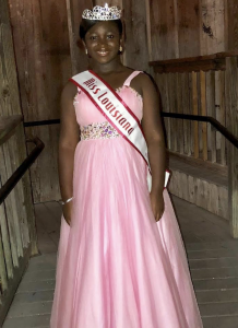 Paris McClain, Barbizon of Baton Rouge alum, won the title of 2018 Louisiana National American Miss Jr. Preteen
