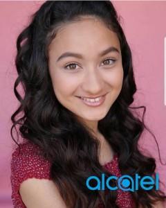 Portia Garnsey, Barbizon Socal grad, booked a commercial for Alcatel