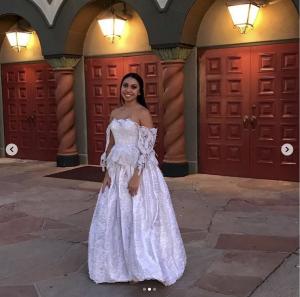 SWMT model Mia Pallares walked in the Sebrina Love Bridals LLC fashion show