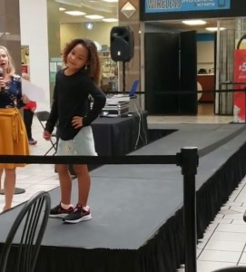 Safiyah Brown, Barbizon PA alum, walked the runway at a fashion show in Colonial Park Mall