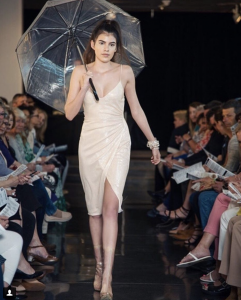 Samantha Townsend, Barbizon of Boise grad, walked the runway in the Boise Art Museum Art of Fashion Show