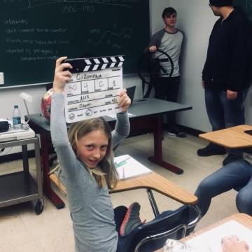 Sasha N., Barbizon Southwest grad, filmed a MSU student film called Gurompka2