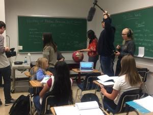 Sasha N., Barbizon Southwest grad, filmed a MSU student film called Gurompka3
