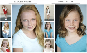 Scarlett and Stella Walker, Barbizon Socal graduates, signed with ABA Talent Agency
