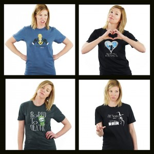 Shannon, Barbizon St. Louis model, modeled for Tee Rex Tee designs