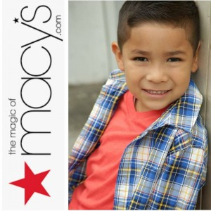 Shay Torres, Barbizon Socal graduate, booked a commercial for Macy's