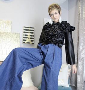 Skylur Bradeen, Barbizon Southwest grad, modeled for designer Rachel Marie Hurst