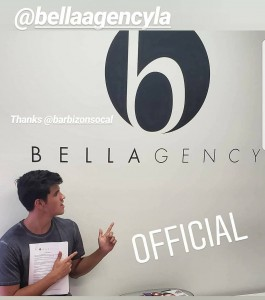 Thaxton Vanbelle, Barbizon Socal grad, signed with The Bella Agency